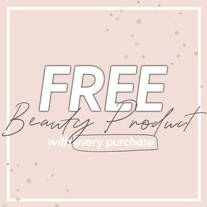 Free beauty item with every purchase ✨✨✨